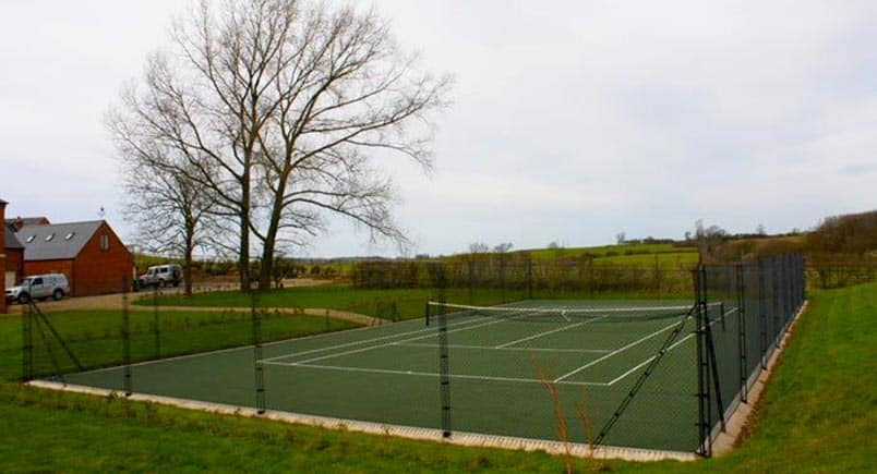 Tennis court construction by EnTC