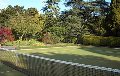 Tennis court construction by EntC Courts of Oundle.