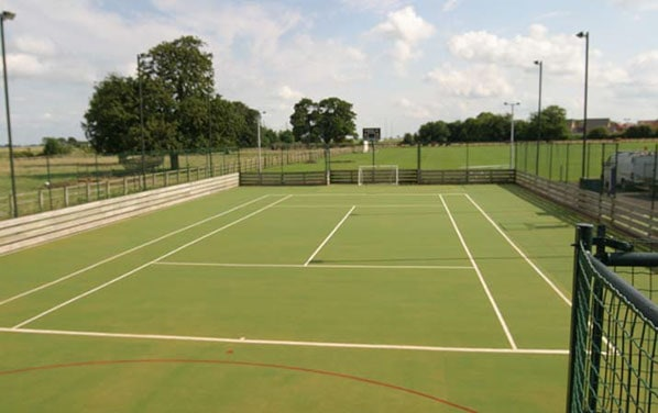 Floodlighting with MUGA by EnTC courts - Elliott Tennis Courts.