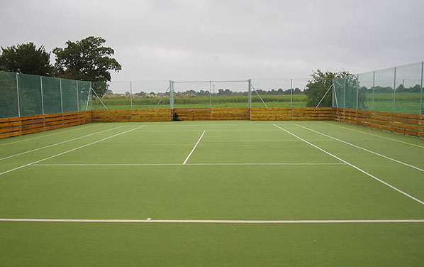Multi Use games Area - MUGA - with insets for football goals.